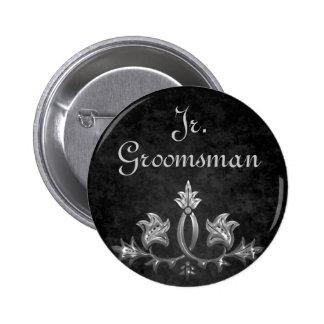 Eleganter gotischer dunkler Romanze wedding Runder Button 5,1 Cm