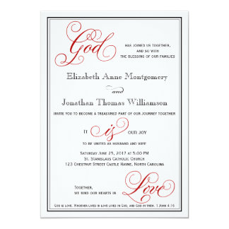 Eleganter Gott ist Liebe-christliche Karte