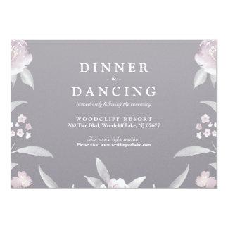 Eleganter grauer 11,4 x 15,9 cm einladungskarte