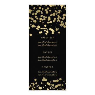 Eleganter Hochzeits-Menü-GoldfolieConfetti 10,2 X 23,5 Cm Einladungskarte