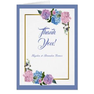 Eleganter Hydrangea danken Ihnen zu kardieren Karte