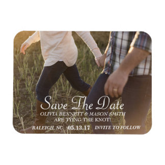 Eleganter kundenspezifischer Foto-Save the Date Magnet
