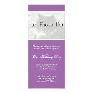 Eleganter Lavendel, den Ihre Foto-Hochzeit einlädt 10,2 X 23,5 Cm Einladungskarte