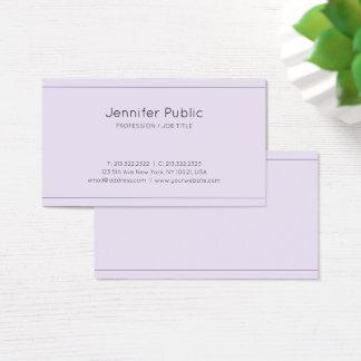 Eleganter lila moderner nobler Entwurfs-Luxe Seide Visitenkarte
