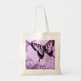 Eleganter lila Schmetterlings-Polterabend Tasche