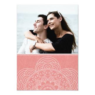 Eleganter Mandala Boho Chic Save the Date 12,7 X 17,8 Cm Einladungskarte