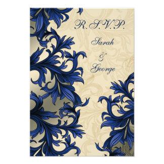 """eleganter """"Marineblau"""" Hochzeit UAWG Standard 3,5 Individuelle Ankündigungen"""