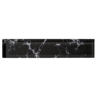 Eleganter Marmor style4 - Schwarzweiss Schreibtischplakette