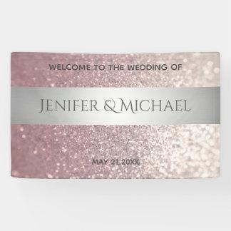 Eleganter moderner glittery silberner Streifen Banner