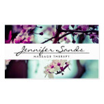 ELEGANTER NAME mit KIRSCHblüten Visitenkarte