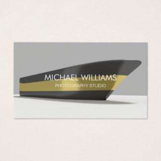 Eleganter Professioneller Gold Schwarzes Schiff Visitenkarte