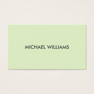 Eleganter Professioneller grüne Creme Visitenkarten