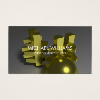 Eleganter Professioneller Metall Gold Dekorateur Visitenkarte
