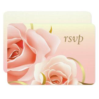 Eleganter rosa Rosen-Entwurf kundenspezifische 8,9 X 12,7 Cm Einladungskarte