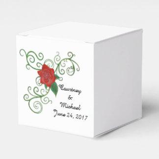 Eleganter Rosen-Gastgeschenk Hochzeits-Kasten Geschenkschachtel