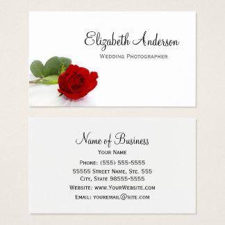 Eleganter Rosen-Hochzeits-Fotograf Visitenkarte