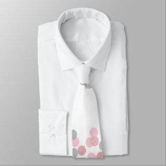 eleganter RosengoldGlitter-Pastellrosa Confetti Personalisierte Krawatte