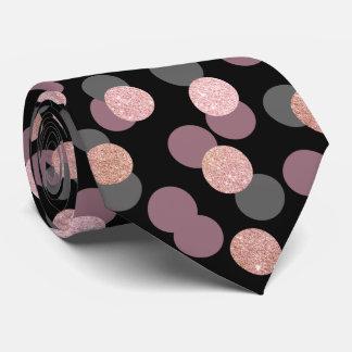 eleganter RosengoldGlitter-Pastellrosa Confetti Personalisierte Krawatten