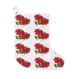 Eleganter roter große weihnachtsstrümpfe