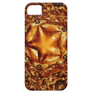 Eleganter schicker kupferner Goldweihnachtsstern Hülle Fürs iPhone 5