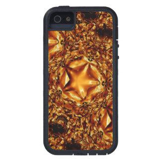 Eleganter schicker kupferner Goldweihnachtsstern iPhone 5 Etuis