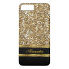 Eleganter Schwarz-und GoldGlitter iPhone 8 Plus/7 Plus Hülle