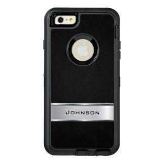 Eleganter schwarzer silberner metallischer OtterBox iPhone 6/6s plus hülle