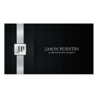 Eleganter schwarzer und silberner beruflicher visitenkarte