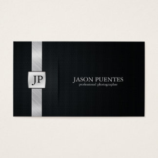 Eleganter schwarzer und silberner beruflicher visitenkarten