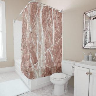 Eleganter tiefer Rosen-und Weiß-Marmor Duschvorhang