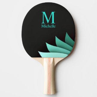 Eleganter Türkis-personalisiertes mit Tischtennis Schläger