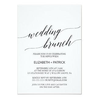 Eleganter weißer und schwarzer 12,7 x 17,8 cm einladungskarte