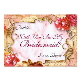 Eleganter Wille sind Sie meine Brautjungfern-Karte Karte