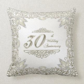 Elegantes 30. Hochzeitstag-Wurfs-Kissen Zierkissen