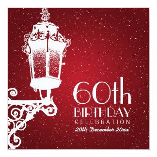 Elegantes 60. Geburtstags-Party-Vintages Individuelle Einladungskarten