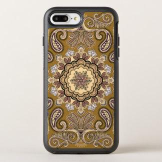 Elegantes beige Paisley-Muster OtterBox Symmetry iPhone 7 Plus Hülle