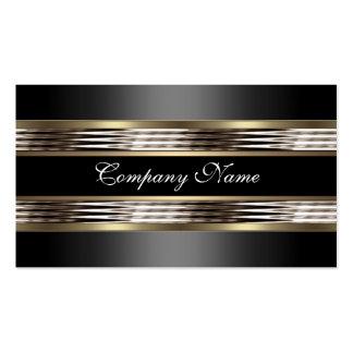 Elegantes beige silbernes Chrom-Metallschwarzes Visitenkartenvorlagen