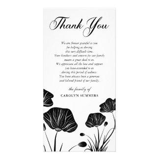 Elegantes Beileid der Mohnblumen-| danken Ihnen Karte