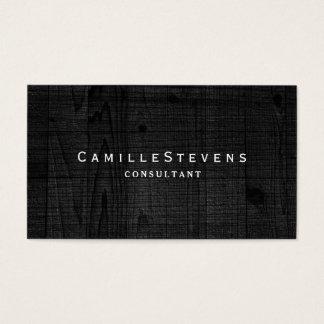 Elegantes berufliches einfaches schwarzes modernes visitenkarte