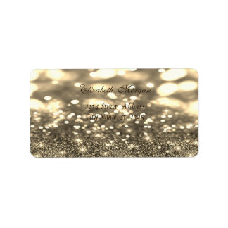 Elegantes bezauberndes Glittery, Bokeh Adressaufkleber