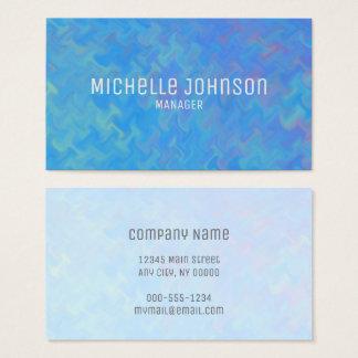 Elegantes Blau, das beruflichen Blick marmort Visitenkarte