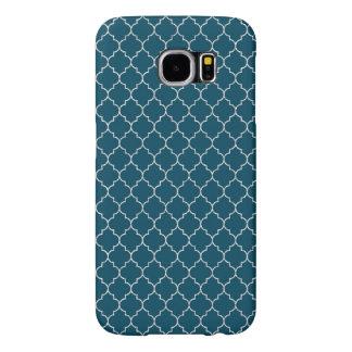 Elegantes blaues Marokko-Muster
