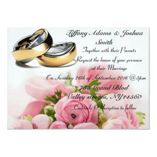 Elegantes Blumen, Hochzeitsband Einladungen