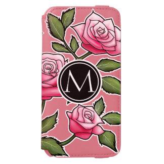 Elegantes Blumen- und Monogramm Incipio Watson™ iPhone 6 Geldbörsen Hülle