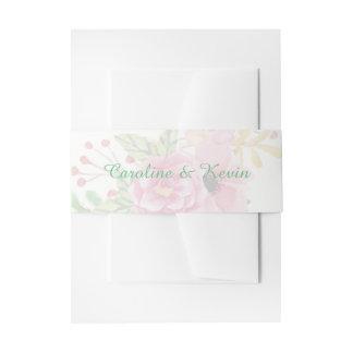 Elegantes Blumeneinladungs-Bauch-Band Einladungsbanderole