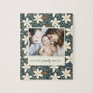 Elegantes Blumenfamilien-Foto-Puzzlespiel