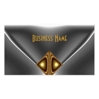 Elegantes Bronzegoldjuwel-Chrom-Silber Visitenkartenvorlage