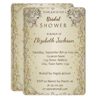 Elegantes Chic-Blumen-Brautparty Karte