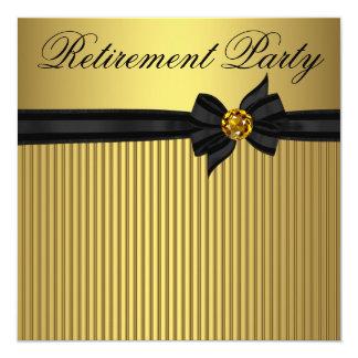 Elegantes der Ruhestands-Party der Schwarz-und Quadratische 13,3 Cm Einladungskarte