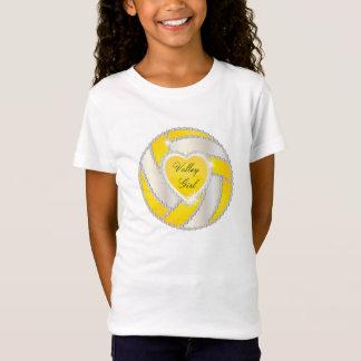 Elegantes Diamant-Herz-heller gelber Volleyball T-Shirt